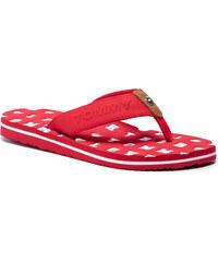 61a1e5bed8e0c Vietnámi papucsok TOMMY HILFIGER - Flat Beach Sandal Embossed FW0FW03889  Tango Red 611