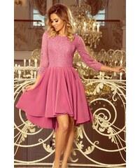 1032b311d123 Numoco Dámské společenské šaty Numoco 130091 růžové - růžová