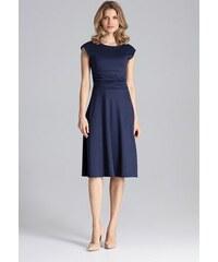 d450781c8ed4 FIGL Elegantné tmavo modré šaty - M660
