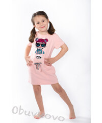 1915c8cf92b2 All for kids Dievčenská tunika šaty s bábiko LOL MM 582 pink