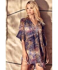 3953deb75977 Dámske talianske košeľové plážové šaty Miradonna Beach farebná ...