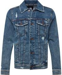 091dd36ffeb9 HOLLISTER Přechodná bunda  WHOLESALE TRUCKER  modrá džínovina