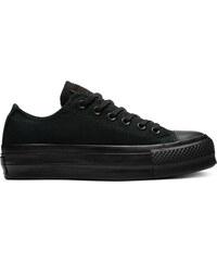 a2da434184c04 Converse čierne kožené tenisky na platforme Chuck Taylor All Star ...
