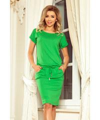 905b341951f7 numoco Zelené dámské sportovní šaty s krátkými rukávy 56-6