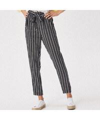 fdbb4fcddc85 Sinsay - Vzorované nohavice s vysokým pásom - Čierna