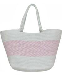a1cd32fcdf Zwillingsherz Plážová taška  Ostsee  růžová   bílá