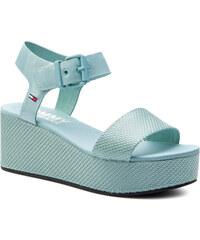 4d94af1bf298d Sandále TOMMY JEANS - Material Mix Flatform Sandal EN0EN00561 Canal Blue 446