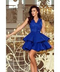 ef3e09df3de6 Numoco Dámské společenské šaty Numoco 122770 modré - modrá