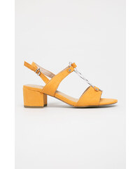 0152a1a81ca3 Oranžové Dámske sandále na podpätku