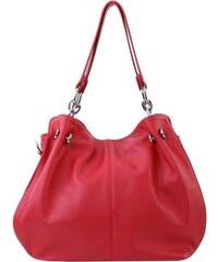 be8ad0054a10 TALIANSKE Talianska Dámska kožená kabelka červená cez rameno Martina Borse  in pelle