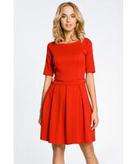 84b3660596b8 Červené šaty MOE 018