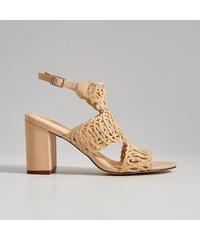 8e6ff598ffe0 Mohito - Pletené sandále na podpätku - Béžová