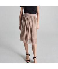 62e849ef7b5a Sinsay - Plisovaná sukně - Krémová