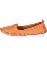 23a7b338f227 Andrea Conti Nazúvacie topánky s výrazným švíkom oranžová