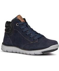 e5fb387406 Geox Kids Šnurovacie členkové topánky námornícka modrá