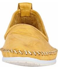 82fe46b339c4 Andrea Conti Nazúvacie topánky s výrazným švíkom žltá