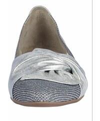 e5e77845b1 GABOR Nazúvacie topánkyv kovovom vzhľade strieborná