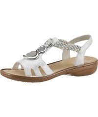 e91a843e61b3 Rieker Páskové sandále biela