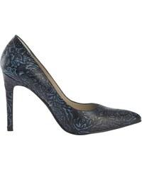f13acf05ab Heine magassarkú cipő csillog virág applikációval. 8 méretekben. Termék  részlete. Heine körömcipő virágos vésett nyomásmintával