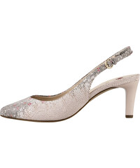 caceefdef01a Ružové dámske uzatvorené sandále na vysokom podpätku značky Hogl