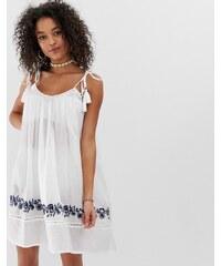 5fc0e4c43f88 Pia Rossini johanna beach dress with trim detail - White