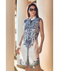 74aac8fa35bf David Beachwear Dámske plážové šaty Erika bielo-modrá