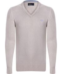 473339a006b0 Krémový sveter z prémiovej bavlny od Fred Perry