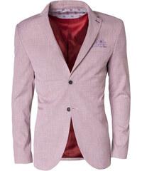 a761e6cc2e07 Ombre Clothing Pánske vzorované sako Trust červené