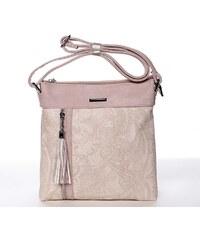 b1acabe33e Originální a módní růžová crossbody kabelka se vzorem - Silvia Rosa Vania  růžová