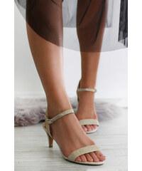 f04e1e985780 Marco Tozzi Zlaté sandále 2-28352