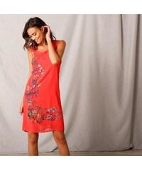 5819de077717 Blancheporte Voálové šaty s potlačou koralová
