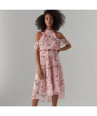 53fd471fd4 Mohito - Open shoulder sifon ruha - Rózsaszín