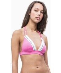 3416adb460 Plavková Podprsenka Calvin Klein Logo Fixed Triangle Růžová