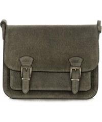 8a604eb2a9 kožená kabelka listonoška Genuine Leather Lahvově zelená