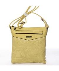 3ba138f4dc Štýlová elegantná narcisovo žltá crossbody kabelka so vzorom - Silvia Rosa  Nicole žltá