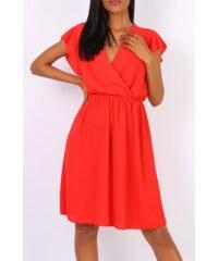 6272e297a127 PLANETA-MODY Korálovo-červené šifónové šaty Diana