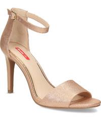 38988d3f54b8 Bata Red Label Zlaté sandále na ihličkovom podpätku