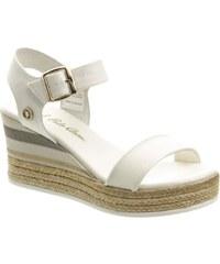 8c02d69b248c U.S. Polo Assn. Canvas biele dámske sandále na platforme