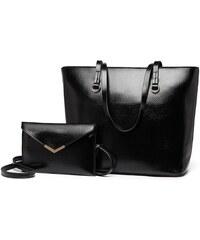 b5dcc21066 Černá dámská luxusní kabelka 2v1 Diana