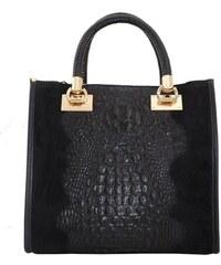 fceee23b67 TALIANSKE Talianska pracovná kožená kožená kabelka do ruky čierna Parisa