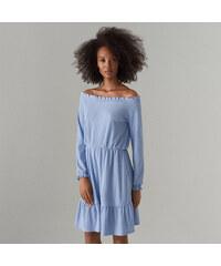 336c2eff00 Mohito - Hosszú ujjú, spanyol stílusú ruha - Kék