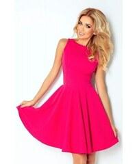 4d58a1fb6ba0 Jednofarebné dámske šaty Donya - ružové 125-3-Woman