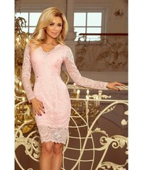 b866af190846 Krajkové dámské šaty Giona - růžové 170-4-Woman