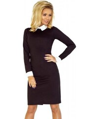 7e12046c3110 Dámske šaty s bielym límcom Danya - čierne 143-1-Woman