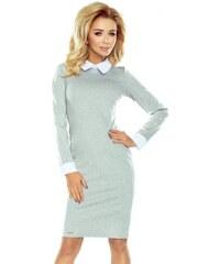 061780bf8c01 Dámske šaty s bielym límcom Danya - svetlo sivé 143-4-Woman