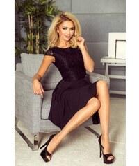 907298d22993 Dámske šaty s čipkou Giana - čierne 157-2-Woman