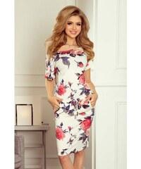 92f571336431 Dámske šaty s kvetmi Ellen - biele 203-1-Woman