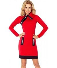 2a07b6231a20 Kontrastné dámske šaty Juliette - červené   čierne 129-3-Woman