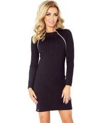 ebe537fc236c Módne šaty s dekoratívnymi zipsmi Letizia - čierne 130-3-Woman