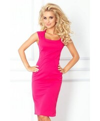 d37fb795d0db Priliehavé dámske šaty Tiffany NEW - ružové 53-11A-Woman